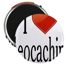 """I Love Geocaching 2.25"""" Magnet (100 pack)"""