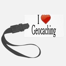 I Love Geocaching Luggage Tag