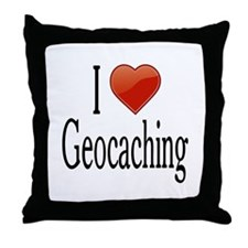 I Love Geocaching Throw Pillow