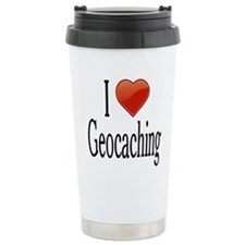 I Love Geocaching Travel Mug