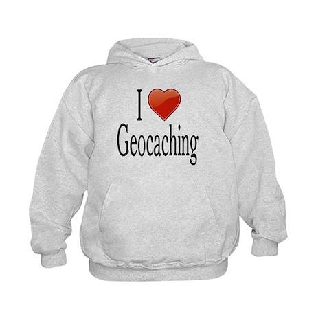 I Love Geocaching Kids Hoodie
