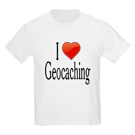 I Love Geocaching Kids Light T-Shirt