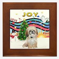 Christmas Music #1 - Shih Tzu Framed Tile