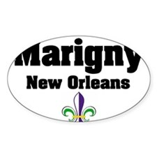 Marigny New Orleans Oval Decal