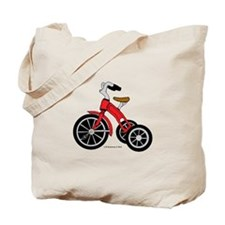 Red Tricycle Tote Bag