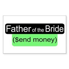 Father of the Bride Send Money Decal