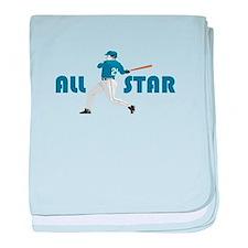 Baseball All Star baby blanket
