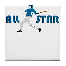 Baseball All Star Tile Coaster