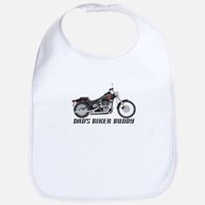 Dad's Little Biker Buddy Bib