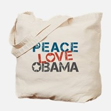 Peace Love Obama Tote Bag