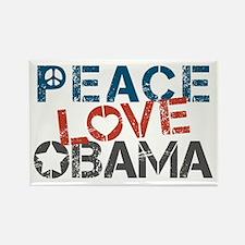 Peace Love Obama Rectangle Magnet