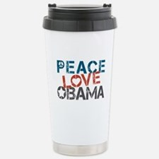 Peace Love Obama Stainless Steel Travel Mug