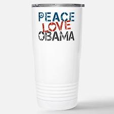 Peace Love Obama Travel Mug