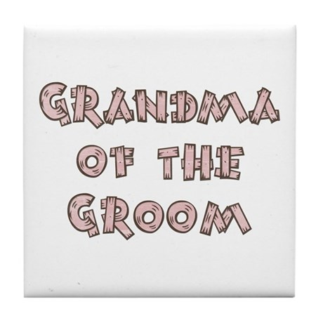 Country Grandma of the Groom Tile Coaster