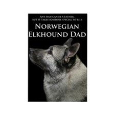 Elkhound Dad Rectangle Magnet