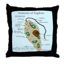 Generalized anatomy of Euglena Throw Pillow