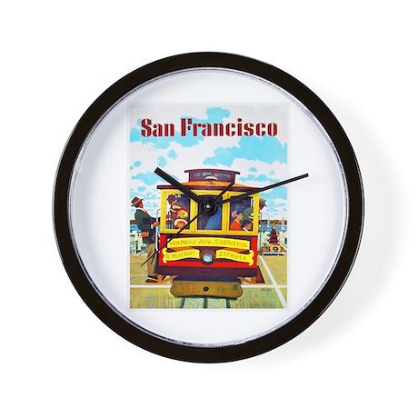 San Francisco Travel Poster 1 Wall Clock