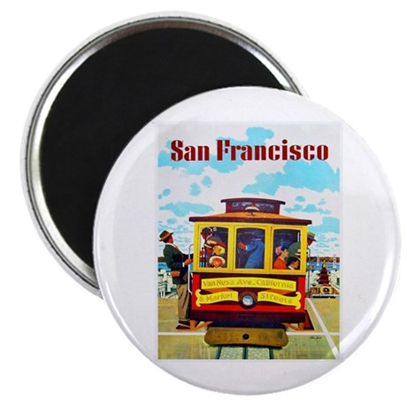 San Francisco Travel Poster 1 Magnet