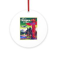 Alaska Travel Poster 5 Ornament (Round)