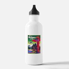 Alaska Travel Poster 5 Water Bottle