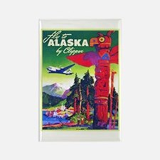Alaska Travel Poster 5 Rectangle Magnet