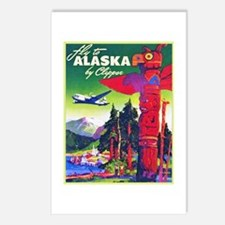 Alaska Travel Poster 5 Postcards (Package of 8)