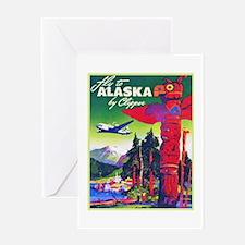 Alaska Travel Poster 5 Greeting Card