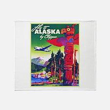 Alaska Travel Poster 5 Throw Blanket