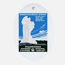 Yellowstone Travel Poster 2 Ornament (Oval)