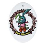Dark Rabbit Ornament (Oval)