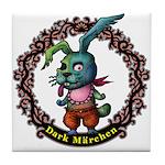 Dark Rabbit Tile Coaster