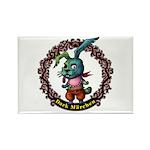 Dark Rabbit Rectangle Magnet