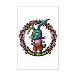 Dark Rabbit Mini Poster Print