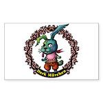 Dark Rabbit Sticker (Rectangle 50 pk)