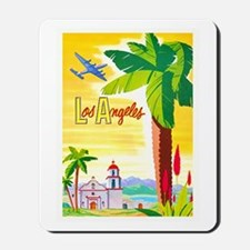 Los Angeles Travel Poster 2 Mousepad