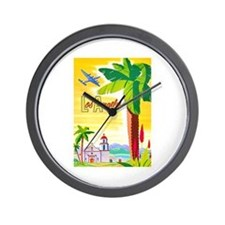 Los Angeles Travel Poster 2 Wall Clock