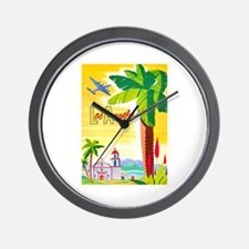 Los Angeles Travel Poster 2 Wall Clock