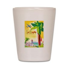 Los Angeles Travel Poster 2 Shot Glass