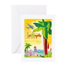 Los Angeles Travel Poster 2 Greeting Card