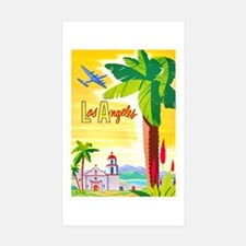 Los Angeles Travel Poster 2 Decal