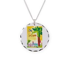Los Angeles Travel Poster 2 Necklace