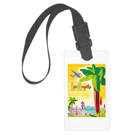 Los Angeles Travel Poster 2 Large Luggage Tag