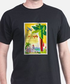 Los Angeles Travel Poster 2 T-Shirt