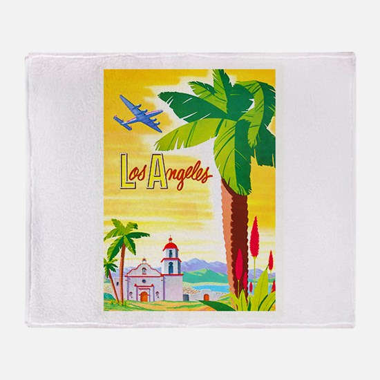 Los Angeles Travel Poster 2 Throw Blanket