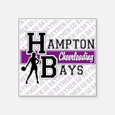 "Hampton Bays Cheerleading Square Sticker 3"" x 3"""