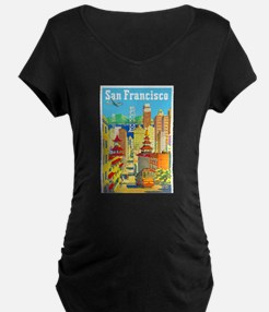 San Francisco Travel Poster 2 T-Shirt