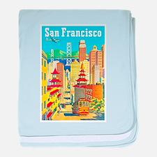 San Francisco Travel Poster 2 baby blanket