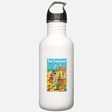 San Francisco Travel Poster 2 Water Bottle
