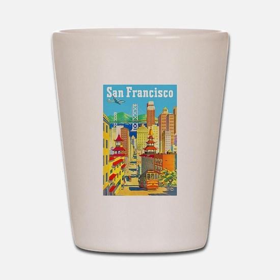 San Francisco Travel Poster 2 Shot Glass