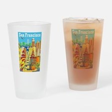 San Francisco Travel Poster 2 Drinking Glass